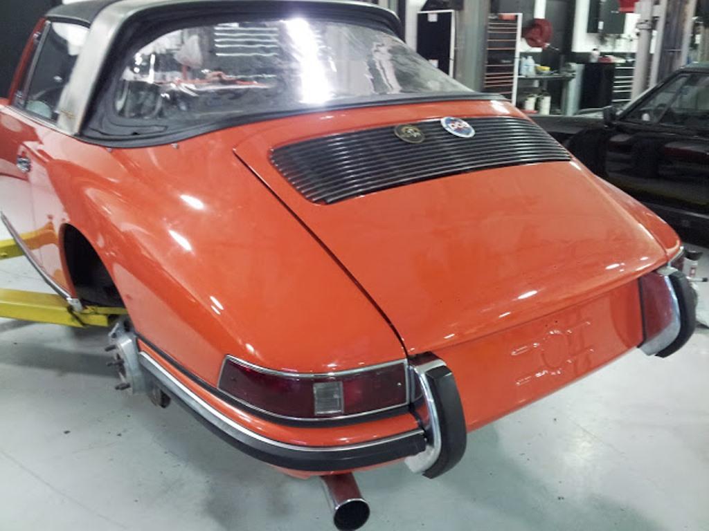 Porsche 1968 911 Targa Soft Top Tangerine Restoration